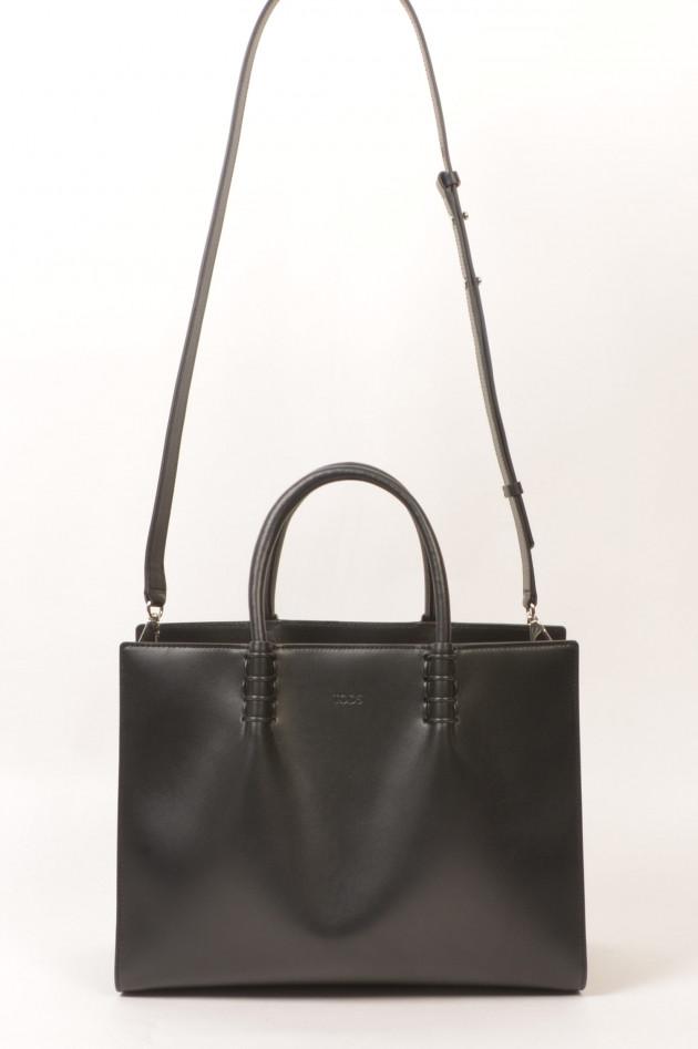 Tod's Tasche SHOPPING BAG MEDIUM aus Leder in Schwarz