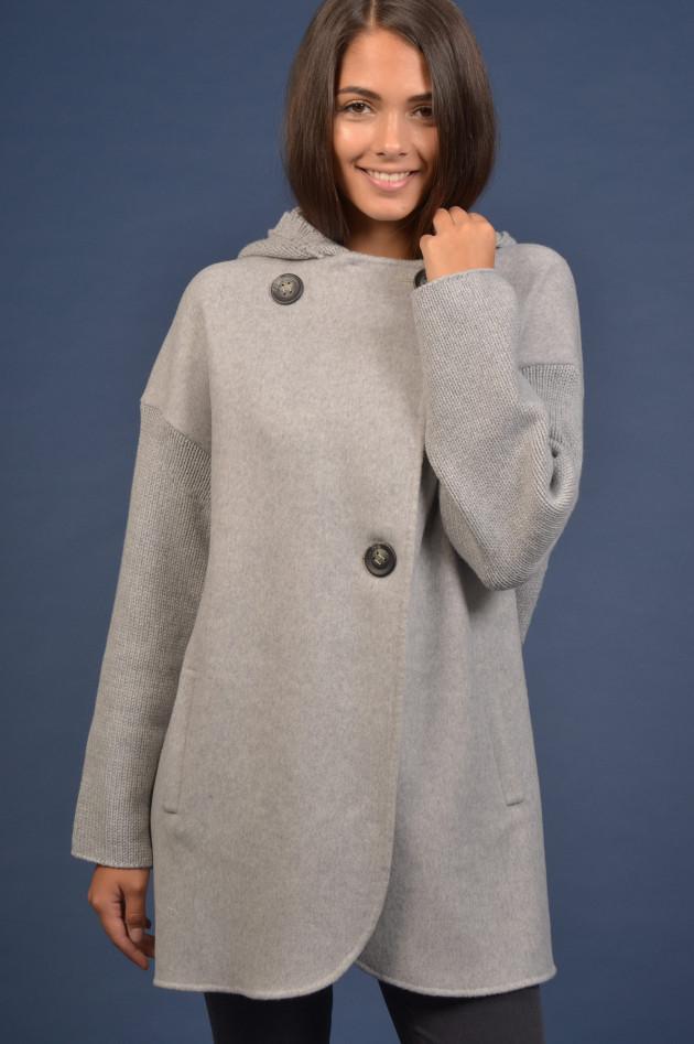 Tonet Mantel mit abnehmbarer Kapuze in Grau   GRUENER.AT 96bebb051ea
