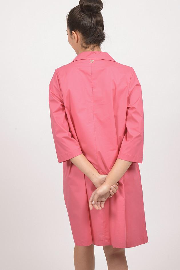 Twin Set Kleid aus Baumwollpopeline in Pink