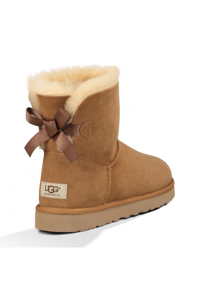 gr ner online shop ugg ugg boots mini bailey bow in chestnut. Black Bedroom Furniture Sets. Home Design Ideas