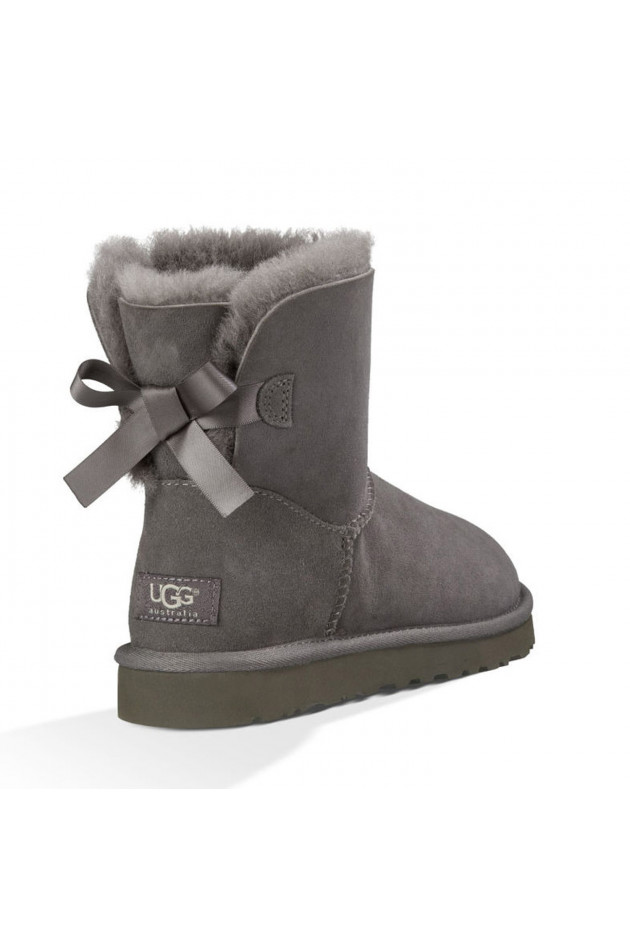 gr ner online shop ugg ugg boots mini bailey bow in grau. Black Bedroom Furniture Sets. Home Design Ideas