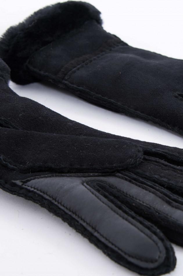UGG Lederhandschuhe SEAMED in Schwarz