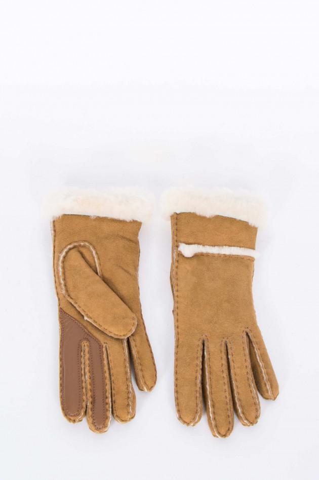 UGG Winterhandschuhe SEAMED in Chestnut