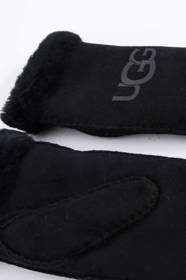 UGG Fäustlinge mit Logo in Schwarz