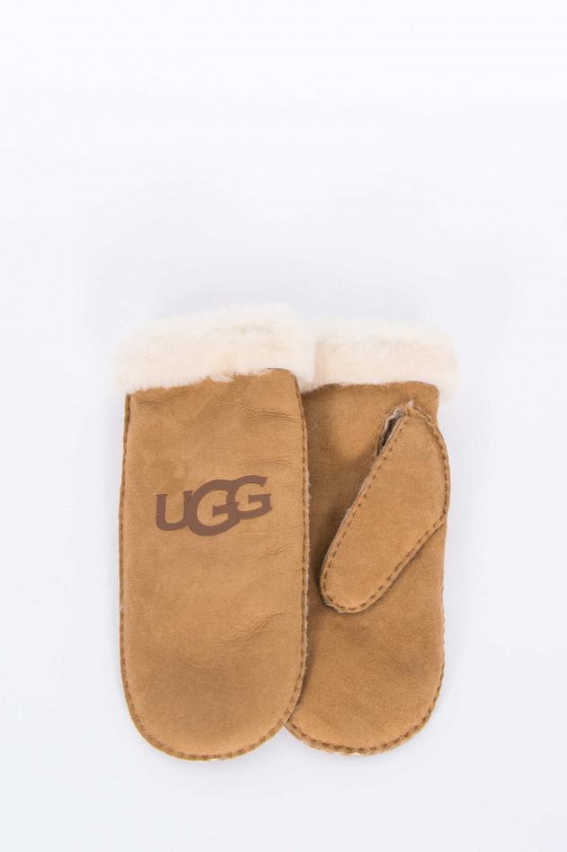UGG Fäustlinge mit Logo in Chestnut