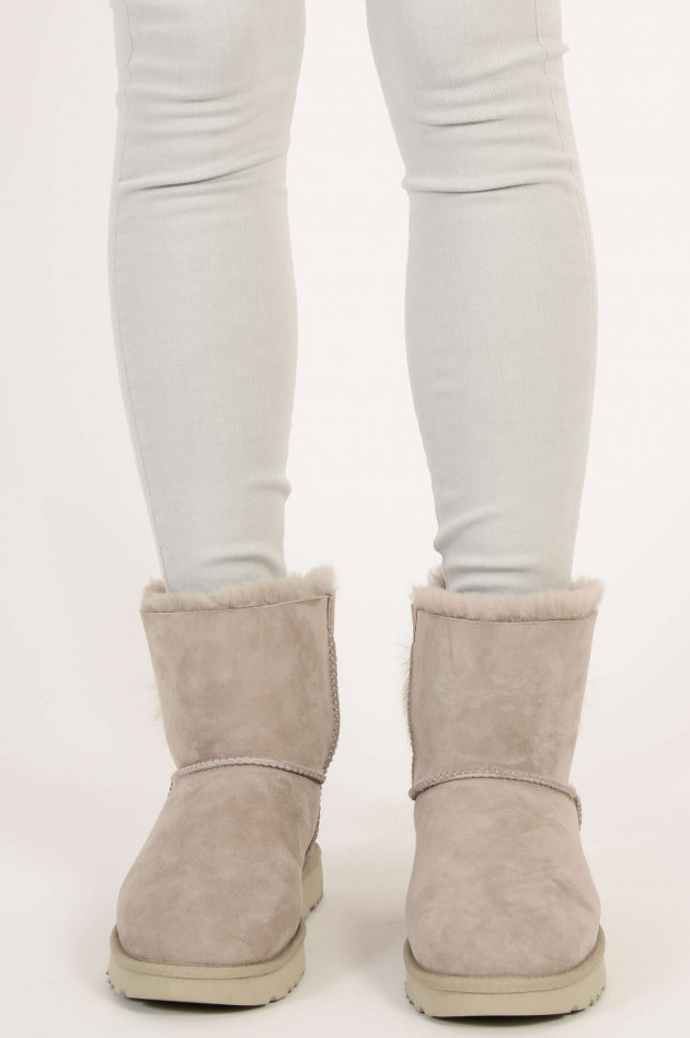 UGG Boots FLUFF BOW MINI CLASSIC in Willow Hellgrau