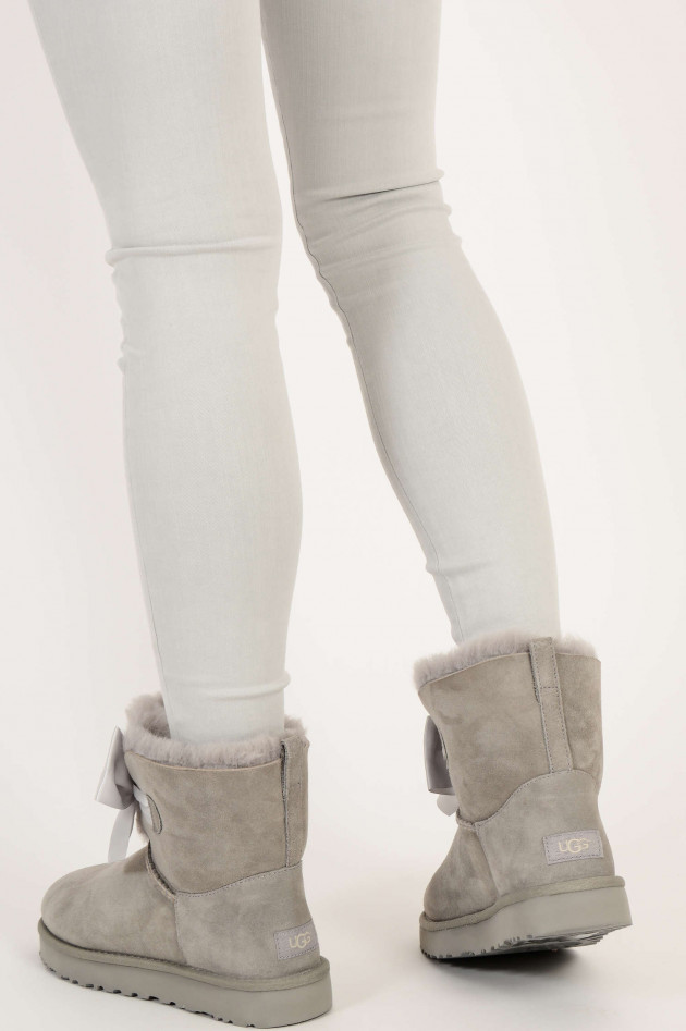 UGG Boots GITA BOW MINI CLASSIC in Seal Hellgrau