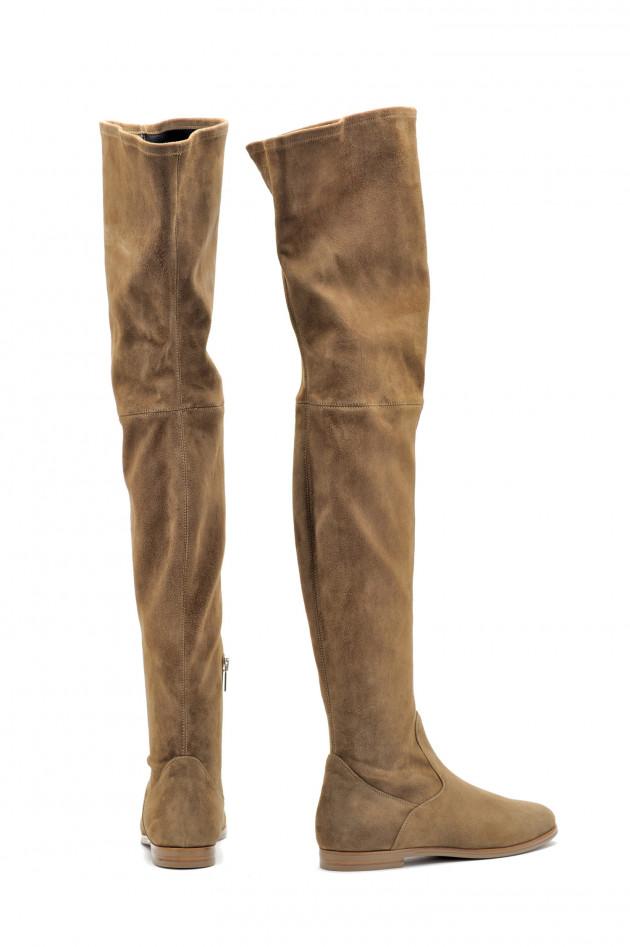 44c081918638f Unützer Overknee - Stiefel in Camel | GRUENER.AT