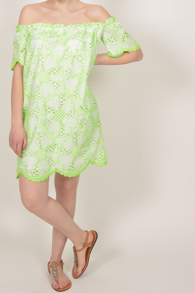 Valerie Khalfon Paris Kleid mit Carmen - Ausschnitt in ...