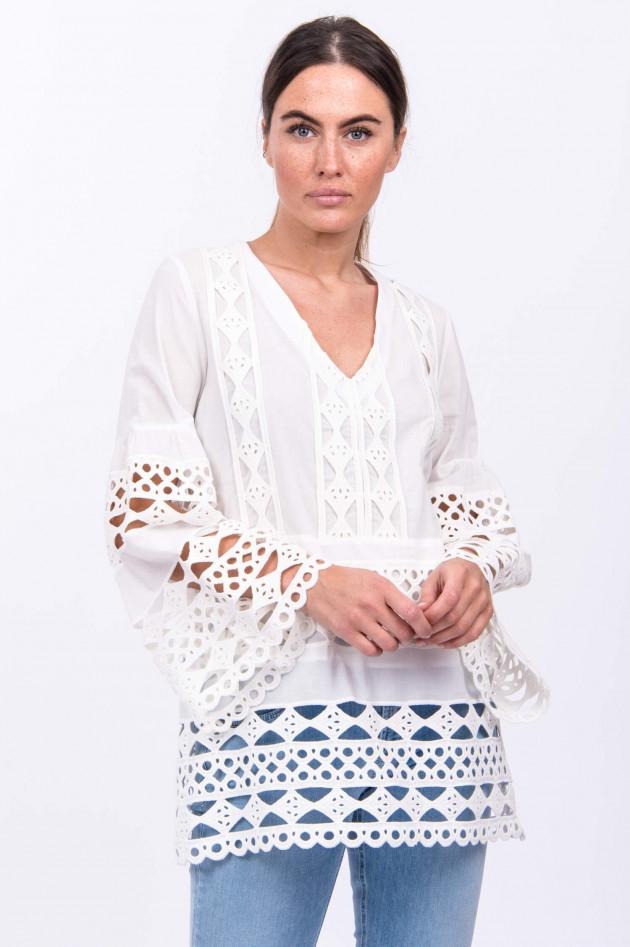 Valerie Khalfon Paris Tunika AZURA in Weiß