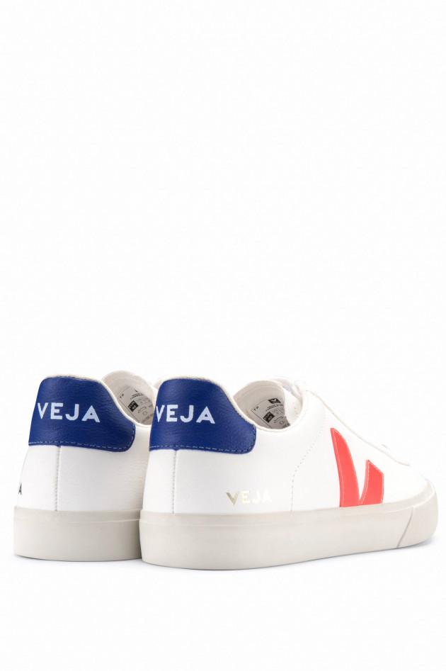 Veja Nachhaltiger Sneaker CAMPO in Weiß/Orange/Navy