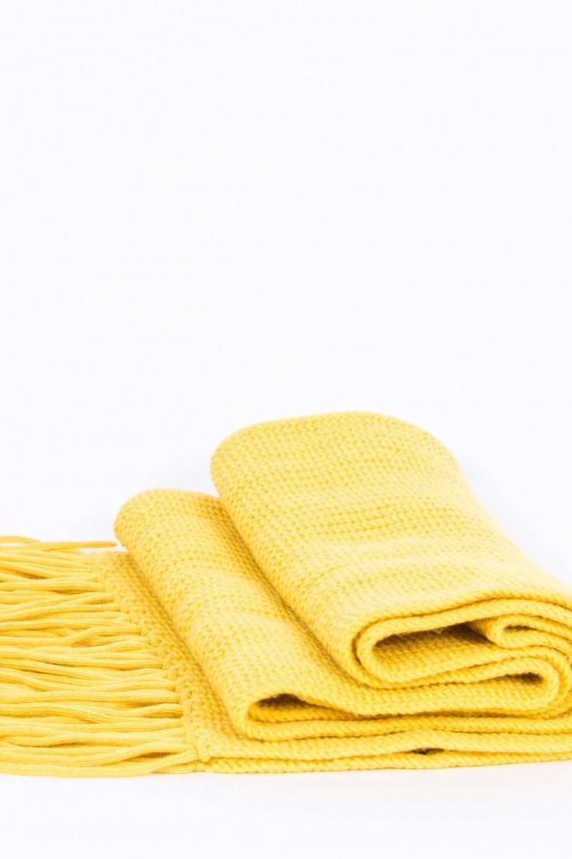 Windsor Schal aus Schurwolle in Gelb