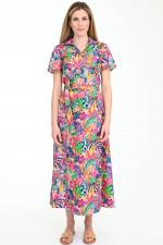Wickelkleid HAVANNA in Rosa/Multicolor