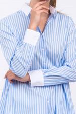 Bluse MAUDABI gestreift in Hellblau/Weiß