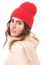 Mütze aus Cariaggi Cashmere in Rot