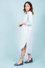 Baumwoll-Kleid in Hellblau