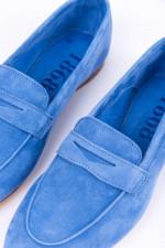 Loafer aus Veloursleder in Blau