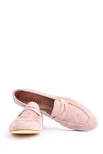 Loafer aus Veloursleder in Rose