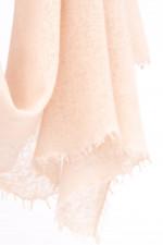 Cashmere Schal in Vanille