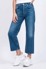 Jeans-Culotte REN mit Waschung in Mittelblau
