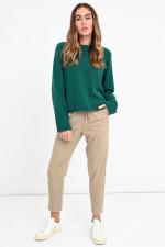 Oversized Kaschmir Pullover in Smaragdgrün