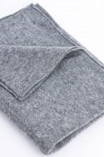 Basic Kaschmir-Schal in Grau meliert