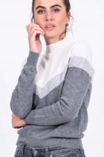 Pullover FIRIK in Grau gemustert