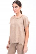 Shirt NIKE aus Seiden-Leinen-Mix in Beige