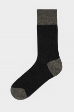 Rippstrick-Socken BERLINO in Anthrazit