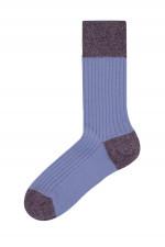 Rippstrick-Socken BERLINO in Hyazinthe