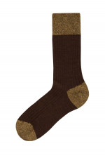 Rippstrick-Socken BERLINO in Rehbraun