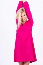 Langarmkleid in Pink