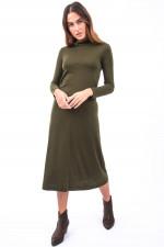 Kleid MACKE mit Rollkragen in Oliv