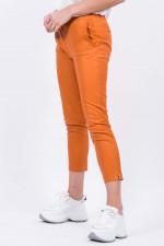 Lederhose mit elastischem Bund in Orange