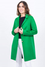 Mantel mit Reverskragen in Grün