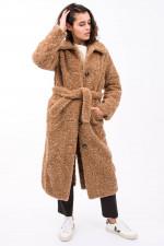 Teddy-Mantel in Camel