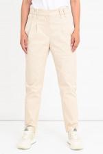 Klassische Hose mit Bundfalten in Creme