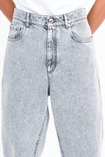Vintage Curved Jeans in Hellgrau
