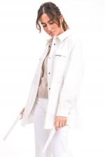 Jacke mit großen aufgesetzten Taschen in Weiß