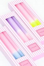 Dip-Dye Stabkerzen-Set MARSHMALLOW in Lila/Rosa