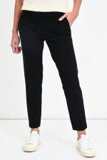 Cropped Jersey-Chino in Schwarz