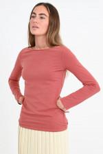 Basic Baumwoll-Shirt in Himbeere