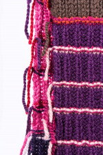Strickschal JENNIFER in Violett gemustert
