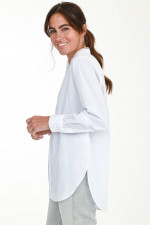 Bluse mit lieblichen Details in Weiß