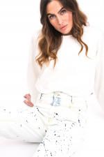 Jeans X-LAND mit Colour-Splash-Design in Hellblau