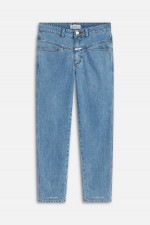 Organic Jeans PEDAL PUSHER in Hellblau