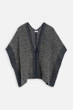 Oversized Pullover mit V-Ausschnitt in Dunkelblau
