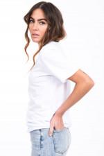 Kurzarmshirt aus Bio-Baumwolle in Weiß