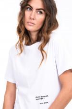 T-Shirt mit Stitching in Weiß
