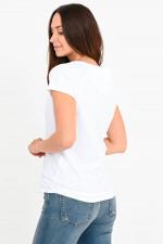 Baumwoll-Shirt mit Raglannaht in Weiß